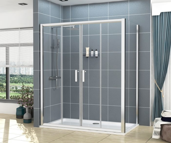 rectangular shower enclosure and tray